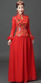 Long-sleeve Long-length Cheongsam (RM)