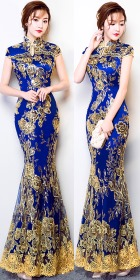 Cup-sleeve Long-length Prom Cheongsam (RM)
