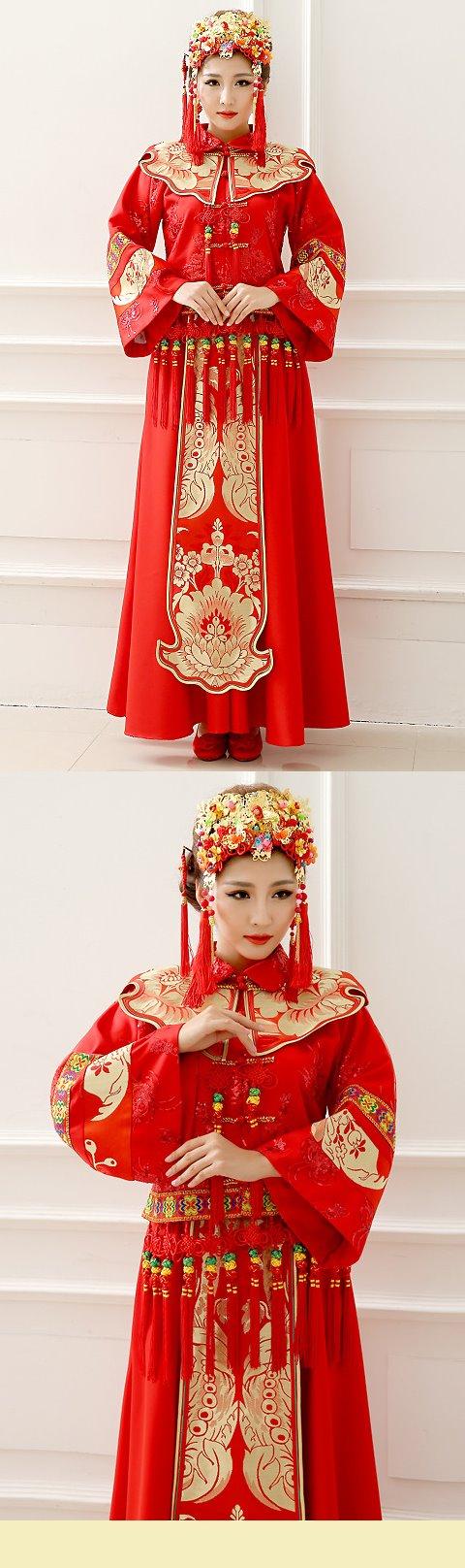 大紅新娘/晚會喜慶秀禾服