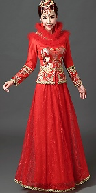 Red Prom/Bridal Skirt Suit