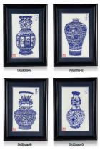 Handicraft Vase Papercutting w/ Frame (RM)