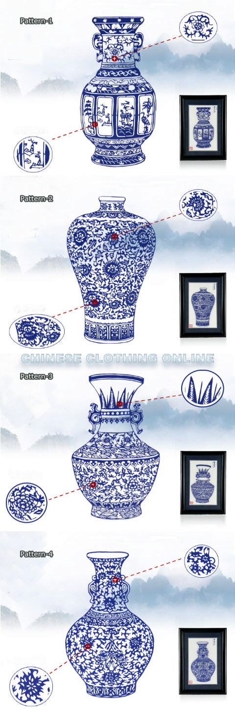 Handicraft Vase Papercutting w/ Frame (RM)