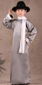 Kid's Mandarin Robe w/ White Folding Cuffs (RM)
