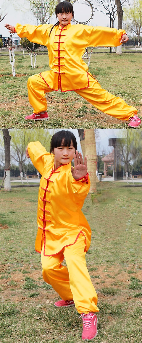 Professional Taichi Kungfu Uniform with Pants - Imitation Silk (RM)
