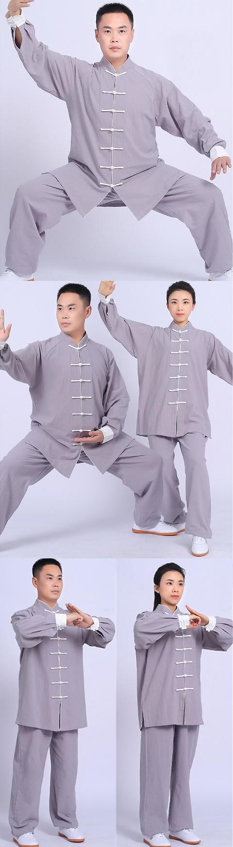 Professional Long-sleeve Linen Taichi Kungfu Uniform (RM)