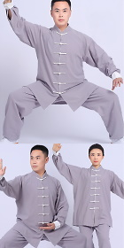 Professional Long-sleeve Linen Taichi Kungfu Uniform (RM)