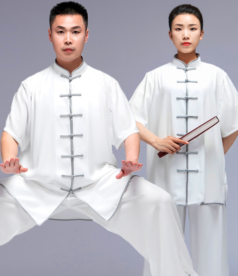 Professional Short-sleeve Cotton/Silk Taichi Kungfu Uniform (RM)