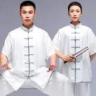 Professional Short-sleeve Cotton/Silk Taichi Kungfu Uniform (RM)