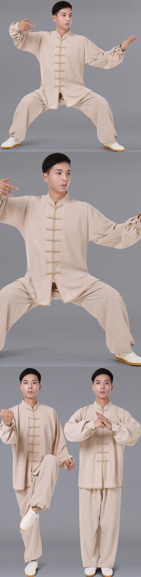 Professional Bamboo Linen Taichi Kungfu Uniform with Pants (RM)