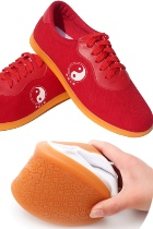Professional Taichi/Wushu Canvas Sneakers (Red)