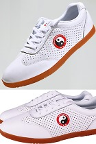 Professional Taichi Cowhide Sneakers (White)