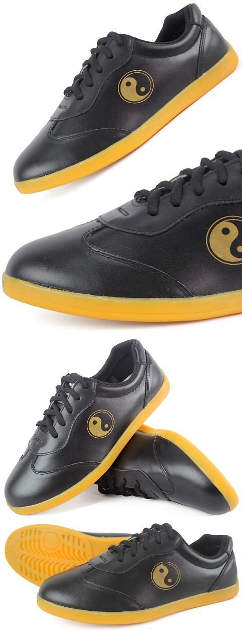 Professional Taichi Cowhide Sneakers (Black)