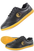 Professional Taichi Cowhide Sneakers (Black)