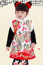 Girl's Wadded Vest Dress (RM)