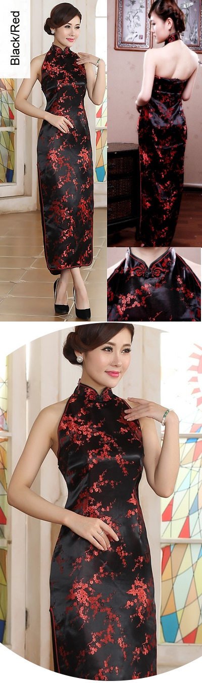 Cut-in Shoulders Bareback Brocade Cheongsam (RM)
