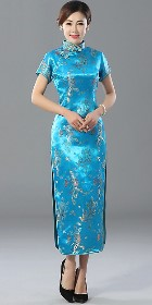 Bargain - Short-sleeve Long-length Brocade Cheongsam (RM)