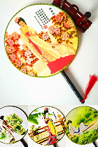 Reunion Fan - Chinese Ancient Beauties (Multiple Characters)