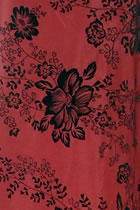 Fabric - Printed Floral Chameleon Thai Silk