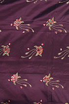 Fabric - Phoenix Tail Embroidery Chameleon Thai Silk (Purple)