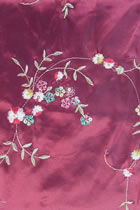 Fabric - Floral Embroidery Chameleon Thai Silk