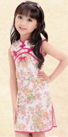 Girl's Sleeveless Floral Cheongsam Dress (RM)