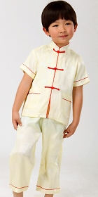 Boy's Short-sleeve Jacquard Mandarin Suit (RM)