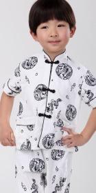 Boy's Short-sleeve Mandarin Suit (RM)