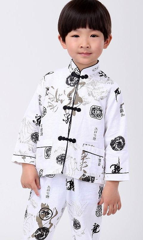 Boy's Long-sleeve Mandarin Suit (RM)
