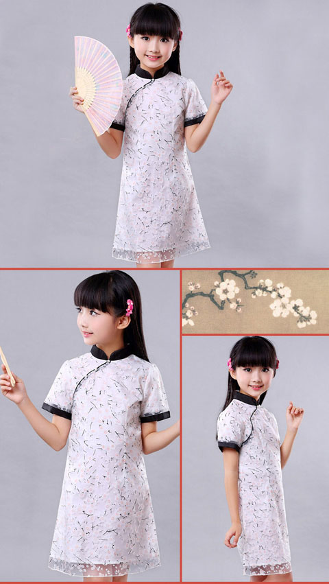 Bargain - Girl's Short-sleeveless Dual-layer Cheongsam (RM)