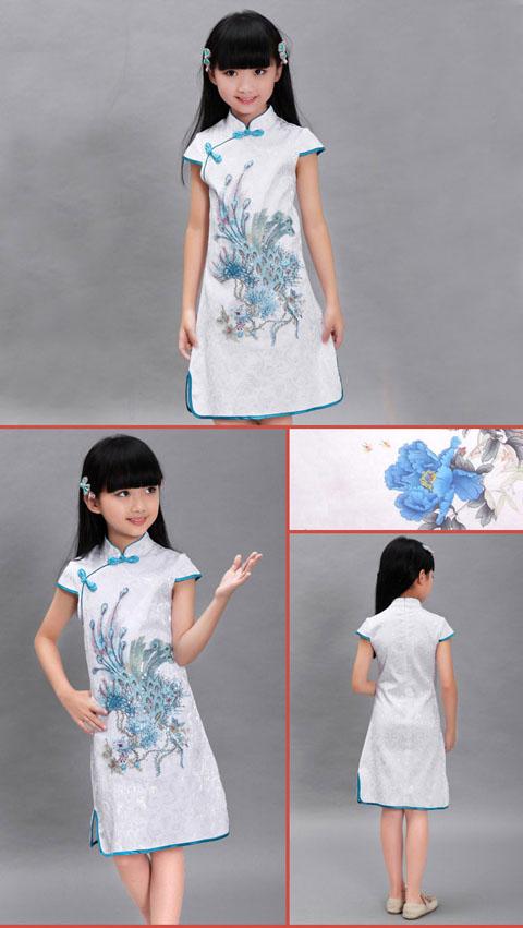 Girl's Short-sleeveless Dual-layer Cheongsam (RM)