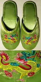 Dragon Embroidery Slippers