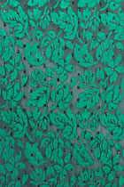 Fabric - See-through Embroidery Velvet Gauze (Green)