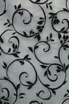 Fabric - See-through Embroidery Velvet Gauze (Black)