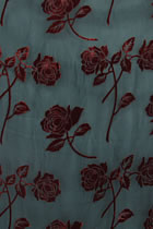 Fabric - See-through Embroidery Silk Velvet Gauze (Red)