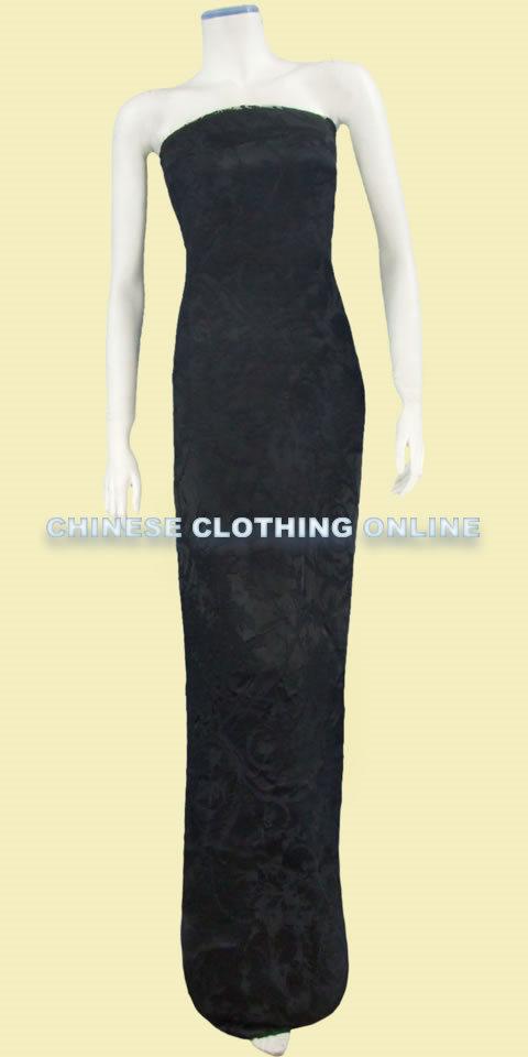 Fabric - See-through Embroidery Silk Velvet Gauze (Black)