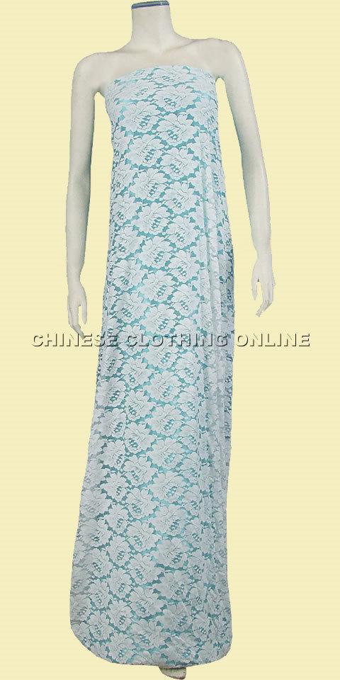 Fabric - See-through Embroidery Velvet Gauze (White)