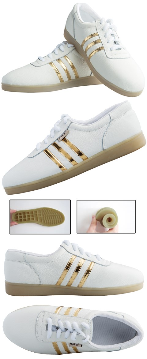 Professional Taichi Embossed Cowhide Sneakers