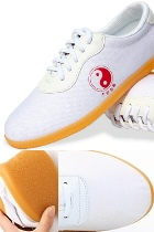 Professional Taichi/Wushu Canvas Sneakers (White)