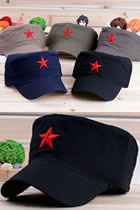 People's Liberation Army Archaic Cap w/ Red Star (Multicolor)