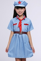 Grils' People's Liberation Army / Red Guard Outfit (Blue)