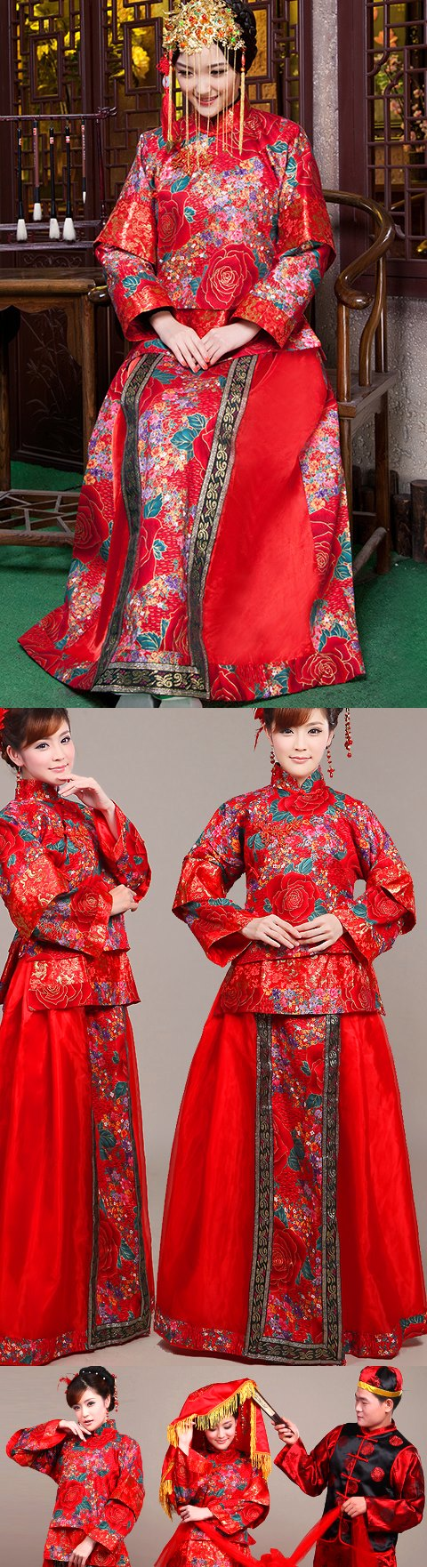 Red Wedding Skirt Suit (RM)