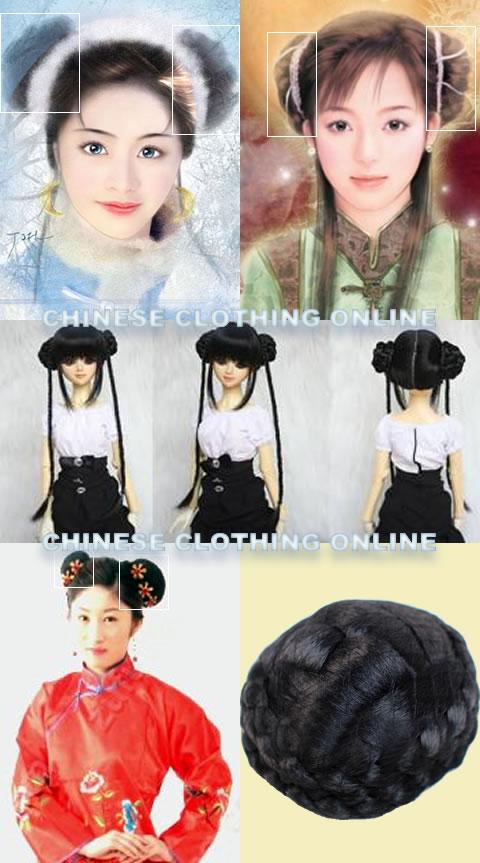 Wig - Round Hair Bun