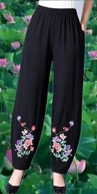 Mandarin Pants with Embroidery (RM)