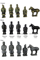 5-piece (12cm) Miniature Terracotta Army