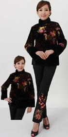 中式絲絨棉襖(成衣)