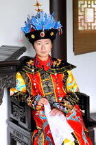 Qing Dynasty Empress Court Dress w/ Crown