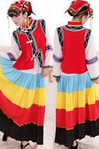 Chinese Ethnic Dancing Costume - Liangshan Yi Zu