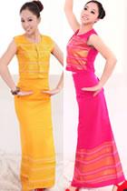 中國民族舞蹈服-西雙版納傣族