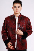Mandarin Brocade Fabric Mink Hair Jacket (RM)
