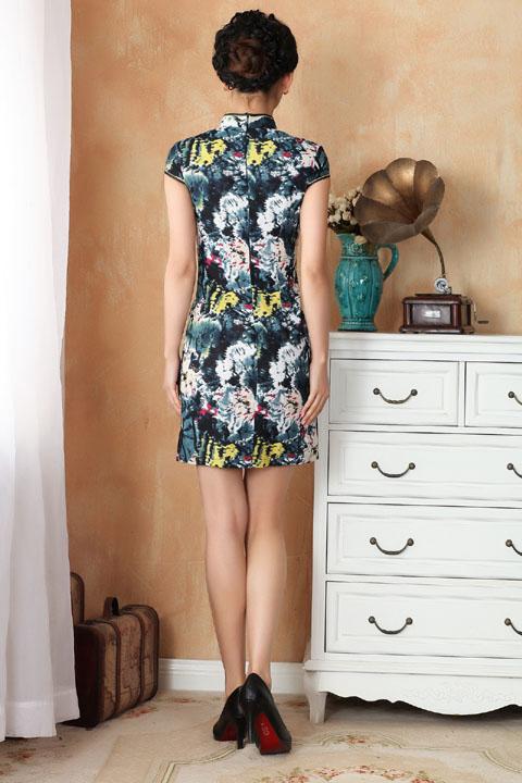 Cup-sleeve Short-length Cheongsam (RM)
